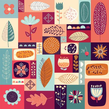 Autumnal decorative. Illustration