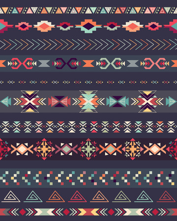 Tribal decorative pattern with traditional elements. Çizim