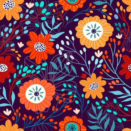 Floral seamless pattern, decorative design