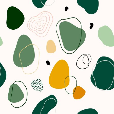 Abstract seamless pattern/background/wall decor, with decorative shapes, modern design