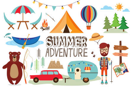 A summer collection with camping elements design