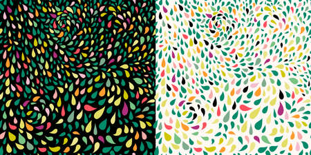Abstract decorative seamless pattern with colorful elements