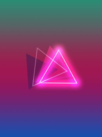 image of 4 triangles in one 3D line, cool as a background for your web