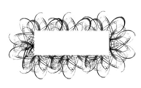 computer generated illustration of horizontal frame with black ornament