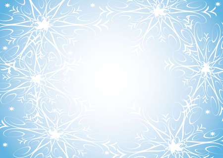 illustration with snowflakes on blue background illustration