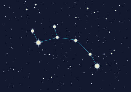 computer generated illustration of Ursa Minor Stock Photo