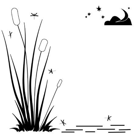 vector monochroic cuadro resumen con prisas  Ilustración de vector