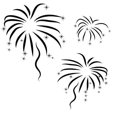 vector silhouette of abstract  firework Illustration