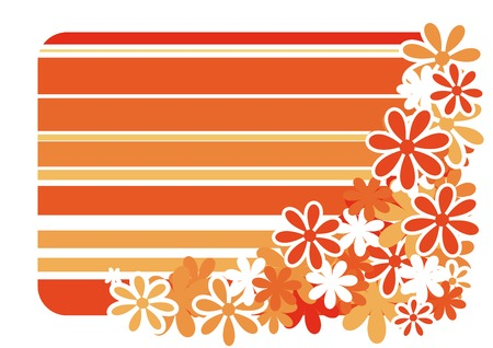 striped background with color flower Stock Vector - 3490690