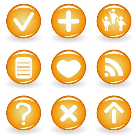 Set of web icons for your design 2. Vector illustration. Ilustração