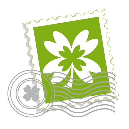 성 패 트 릭의 날 클로버 리프와 우표