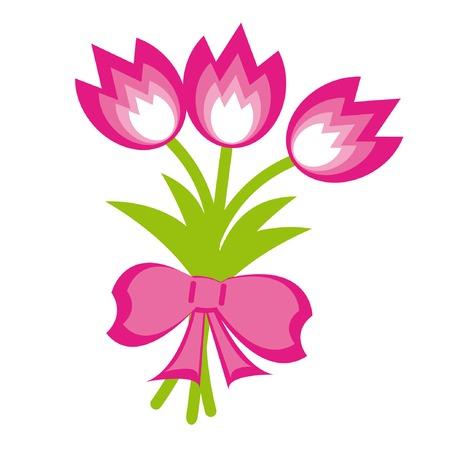 Mazzo di fiori. Illustrazione Vettoriale. Vettoriali
