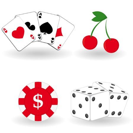 Set of gambling icons. Vector illustration. Illustration