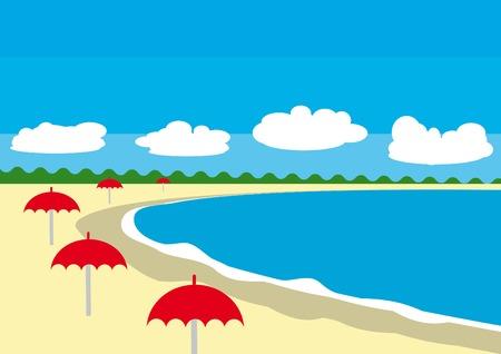 Latem abstrakcyjne plaży widoku