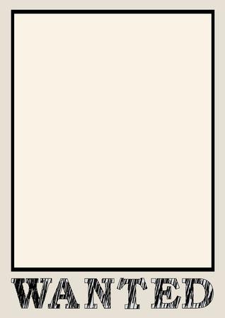 Frame for criminal search Illustration