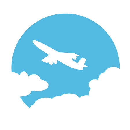 하늘에서 비행기입니다.