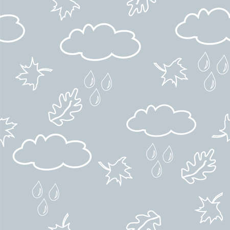 Autumnal seamless pattern. illustration for your design Vector