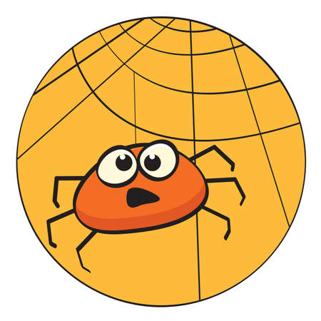 Cute little cartoon spider illustration Vector