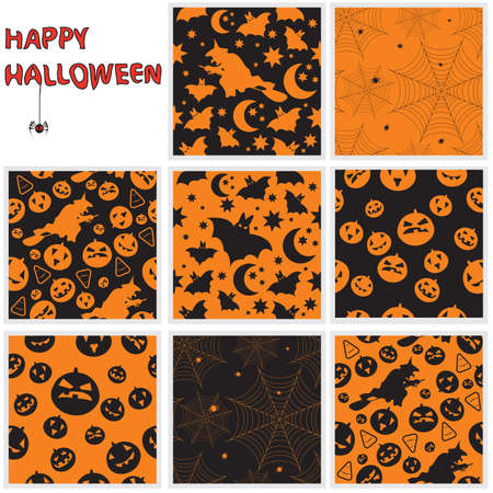 Collection of halloween seamless patterns. Stock Vector - 10930162