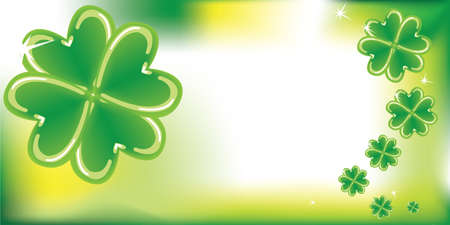 irish symbols: Abstract background with clovers