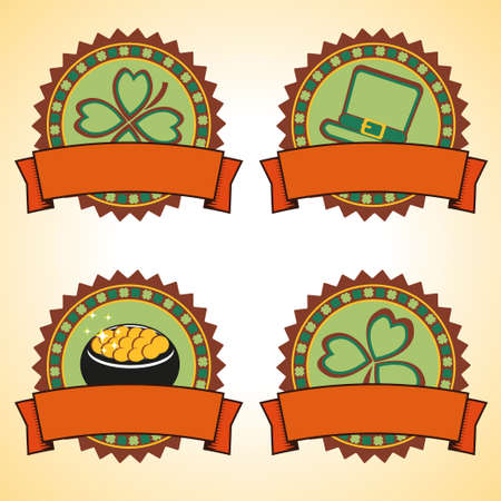 Vector set of retro labels Vector