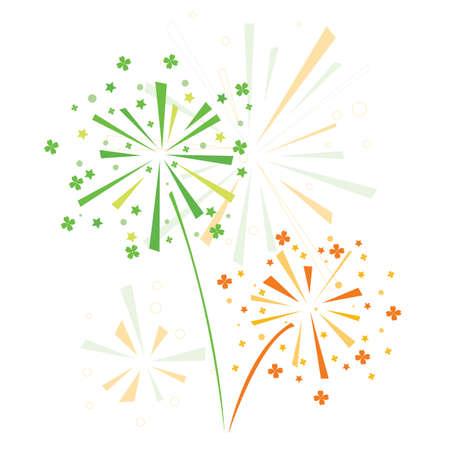 st patrick s day: Fuochi d'artificio in onore del giorno di San Patrizio s Vettoriali