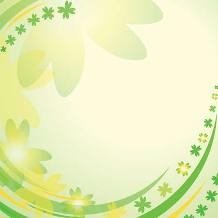Abstract background with clover leaves Vector