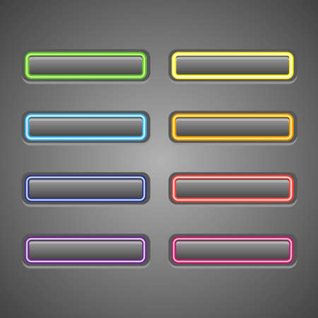 Set of glowing web buttons Stock Vector - 12836031
