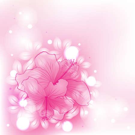 꽃과 추상 화려한 배경