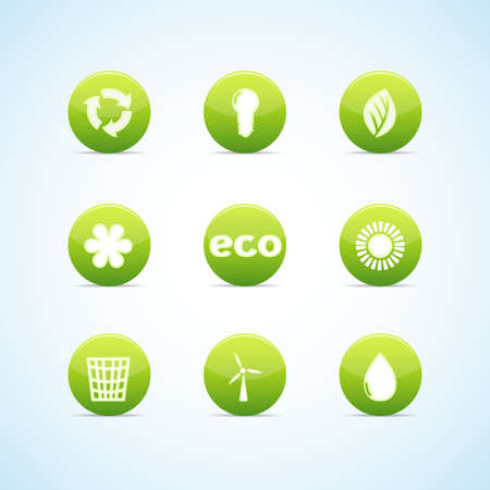 Ecology icon set for green design Stock Vector - 12945646