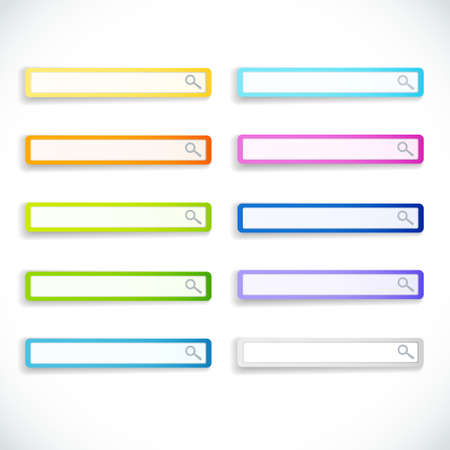 Set of color search bars Illustration