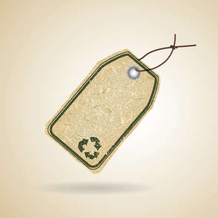 Eco recycle tag Vector