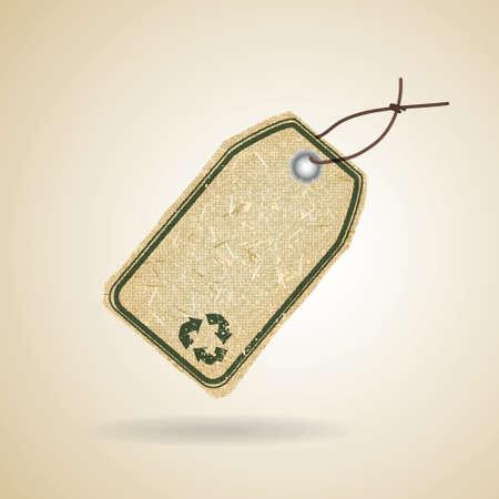 Eco de reciclaje etiqueta
