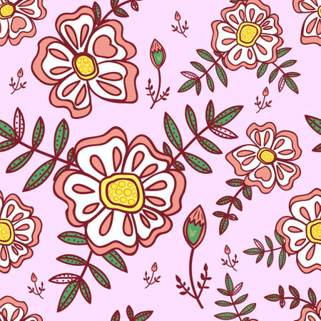 Seamless pattern with abstract flowers Stock Vector - 13233623
