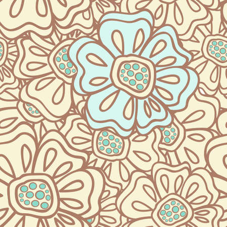 Seamless pattern with abstract flowers Stock Vector - 13233622