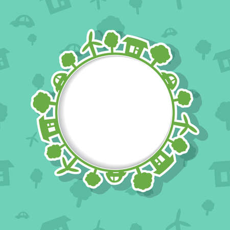 Eco Frame on Seamless Background Vector