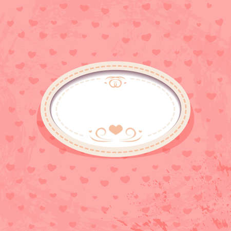 Retro Frame on Pink Background Vector