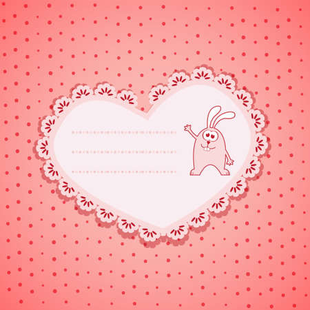 doughter: Baby Frame on Pink  Background Illustration