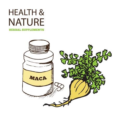 Health and Nature Supplements Collection. Maca - Lepidium meyenii