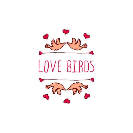 Saint Valentine S Day Greeting Card Love Birds Typographic