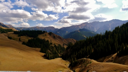 Beautiful landscape near Guozigou Valley, Xinjiang, China