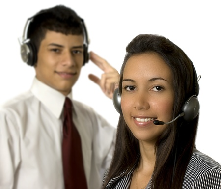 callcenter in action Stock Photo - 15918791