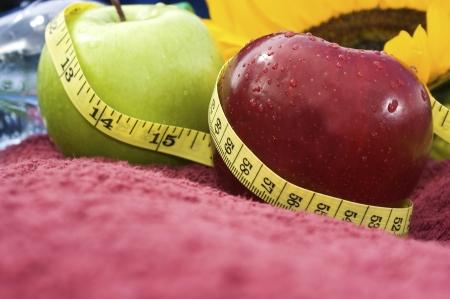 metric: apples with metric tape