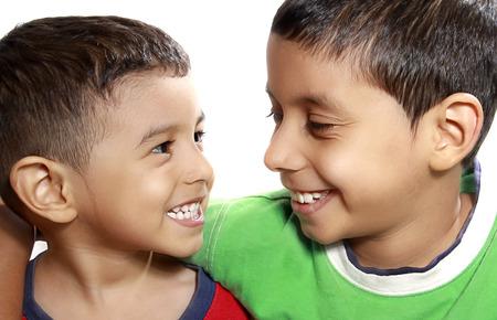 latin kids: always together Stock Photo
