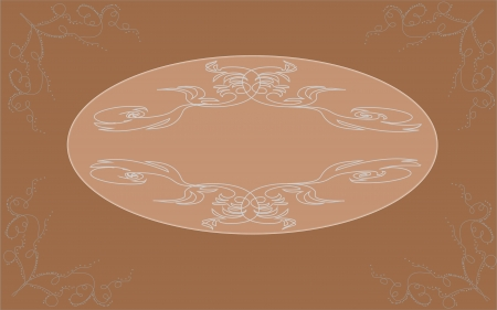 Vintage background with ornamental frame Illustration