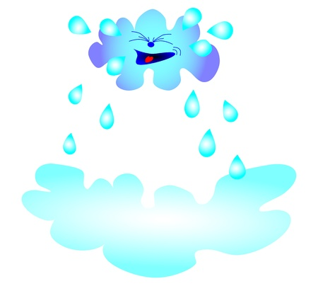 Clouds and rain  vector Vector