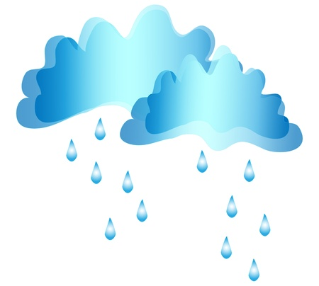 Clouds and rain  vector Stock Vector - 17458835