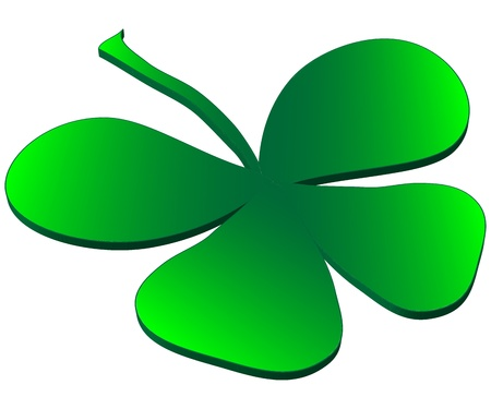 Clover four leaf for saint patrick s day Stock Vector - 17458817