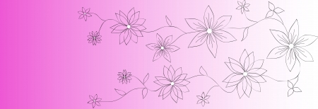 Vector flower banners