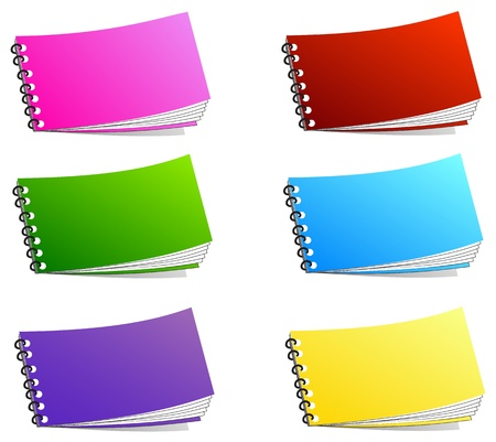 spiral binding: Notebook isolated on white. vector